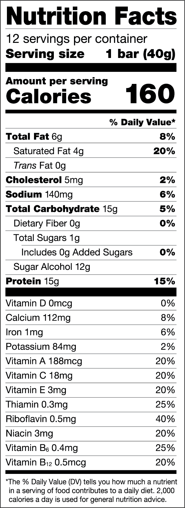 Chocolate Brownie Nutritional Values