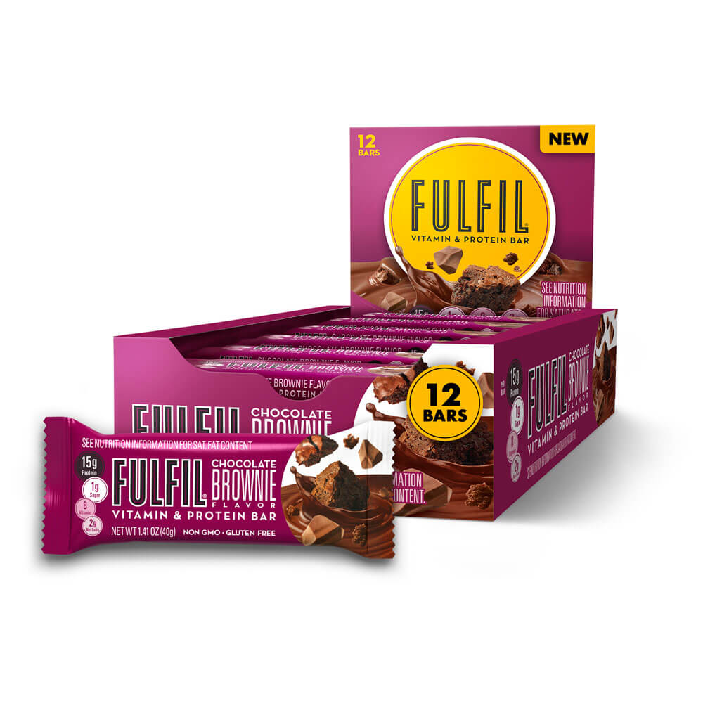 Chocolate Brownie FULFIL Nutrition Bars Box of 12